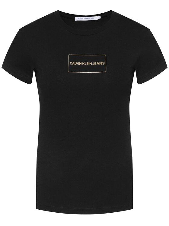 Calvin Klein Jeans Calvin Klein Jeans T-Shirt Institutional J20J212235 Černá Regular Fit