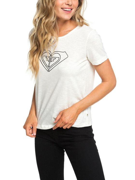 Roxy Roxy T-shirt ERJZT04513 Bianco Regular Fit