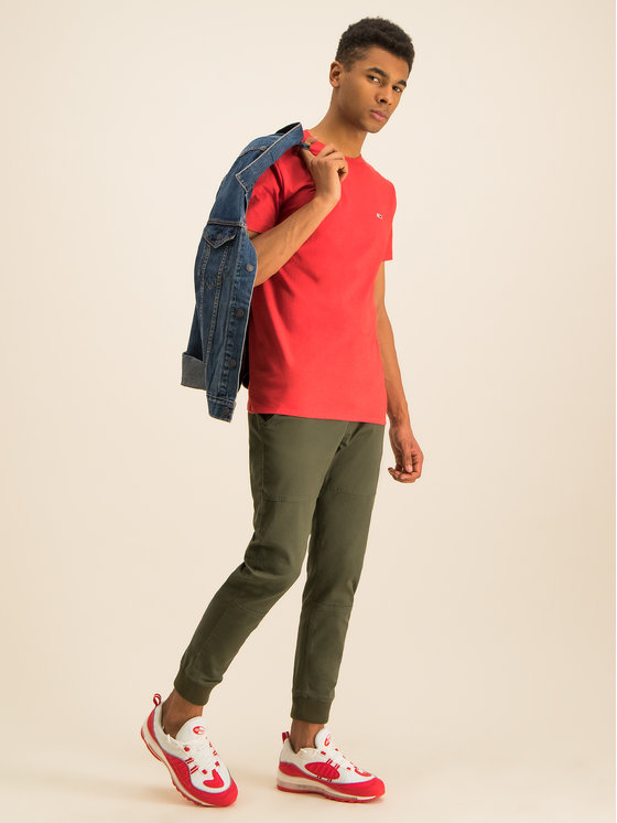 Tommy Jeans Tommy Jeans Tricou Heather DM0DM07469 Roșu Regular Fit