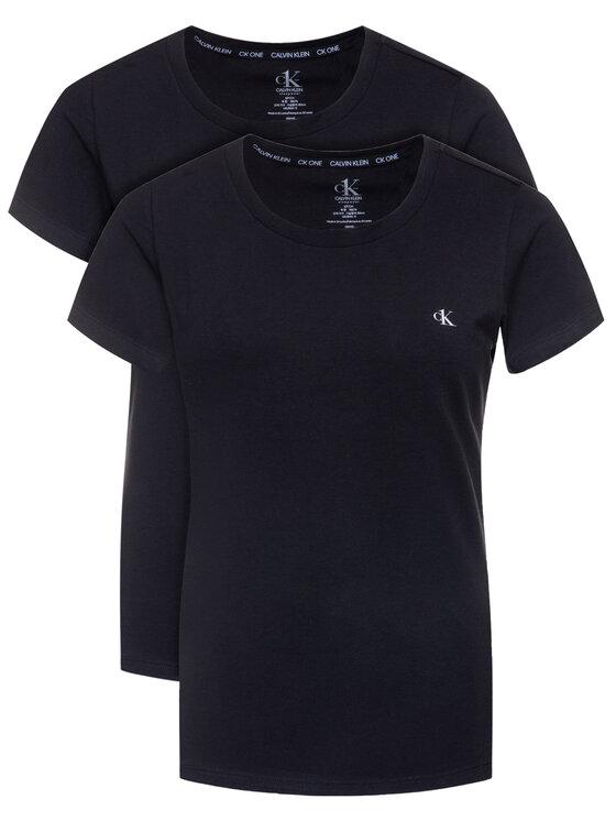 Calvin Klein Underwear 2 marškinėlių komplektas Lounge 000QS6442E Juoda Regular Fit