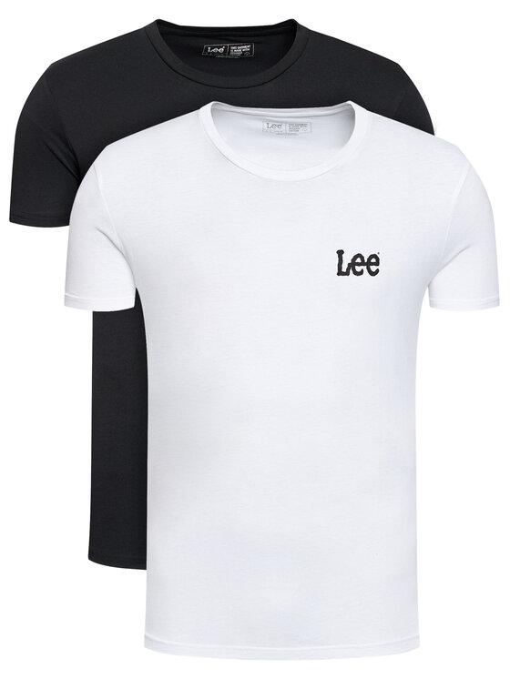 Lee 2 marškinėlių komplektas Crew Neck Graphic L65RAIKW Balta Slim Fit
