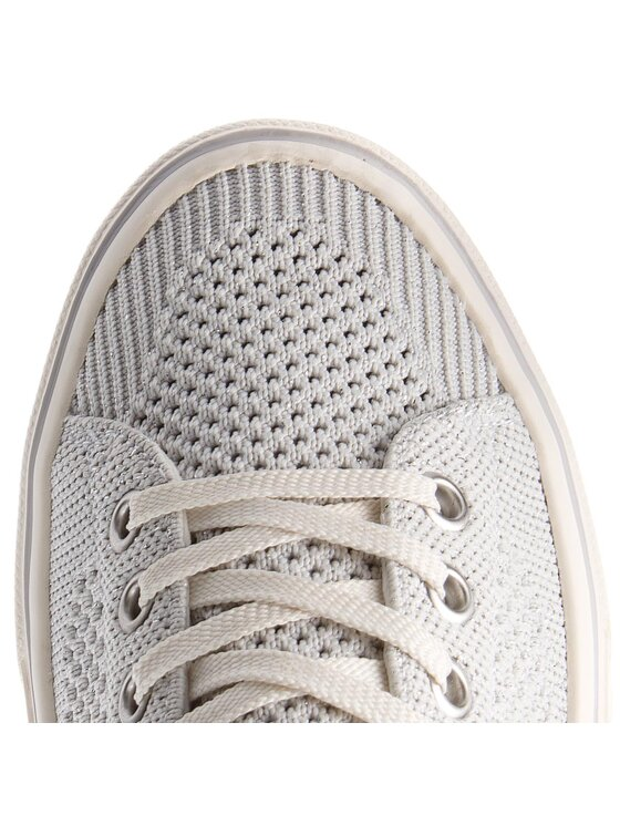 TOMMY HILFIGER TOMMY HILFIGER Tennis Knitted Light Weight Lace Up FW0FW03362 Blanc