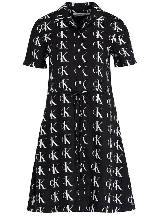 Calvin Klein Jeans Calvin Klein Jeans Sukienka koszulowa J20J212295 Czarny Regular Fit