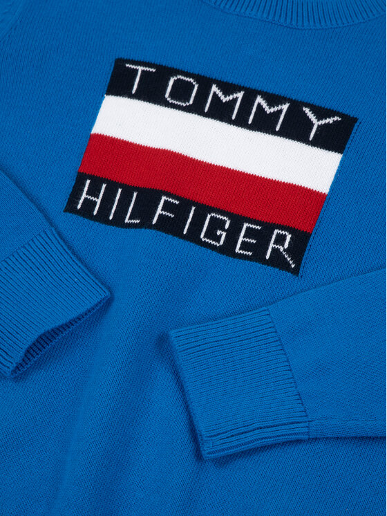 TOMMY HILFIGER TOMMY HILFIGER Πουλόβερ Essential Logo KB0KB05447 D Μπλε Regular Fit