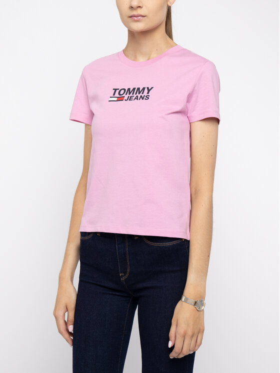 Tommy Jeans Tommy Jeans T-Shirt DW0DW07029 Różowy Regular Fit