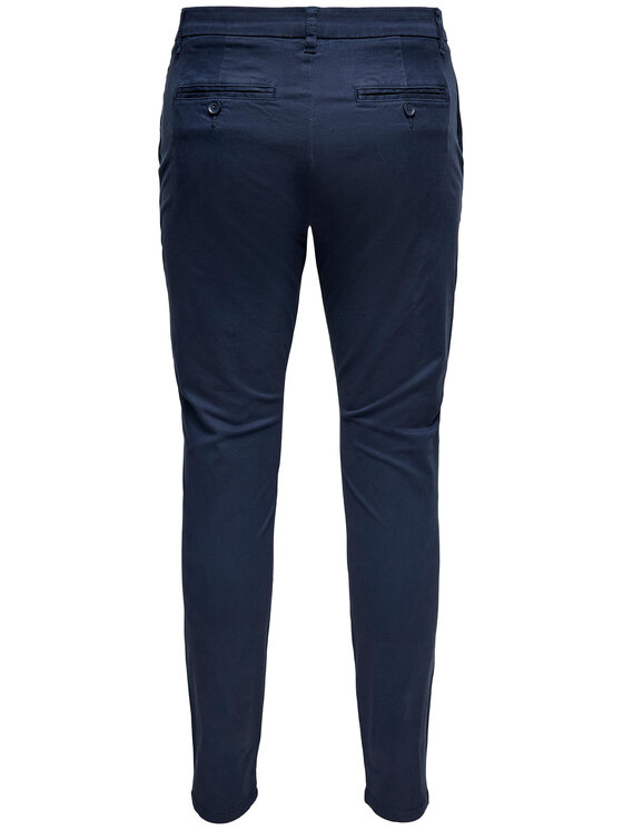 Only & Sons ONLY & SONS Spodnie materiałowe Cam 22016775 Granatowy Regular Fit