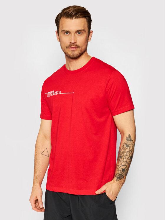 Wilson Marškinėliai M Team II Tech WRA794603 Raudona Regular Fit