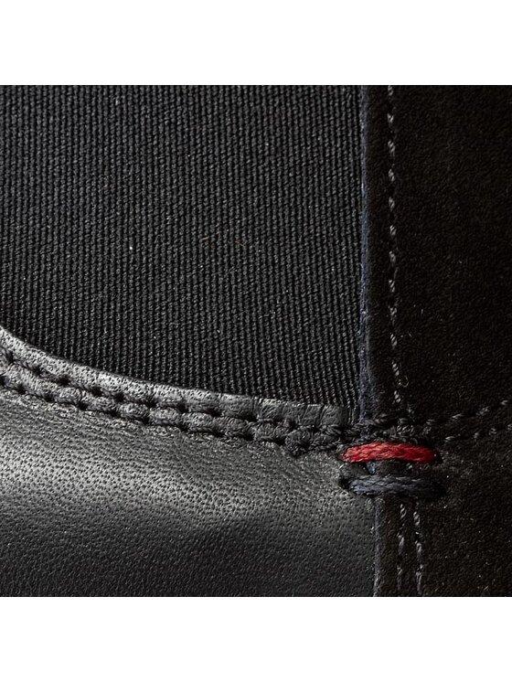 Tommy Hilfiger Tommy Hilfiger Kotníková obuv s elastickým prvkem West 1C FW56817762 Černá