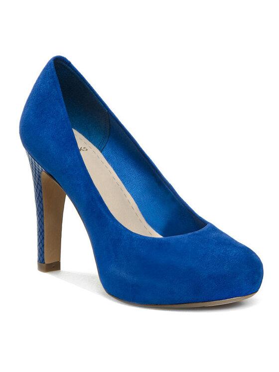 Clarks Clarks Pantofi cu toc subțire Carrick Tangle 20358577194 Albastru