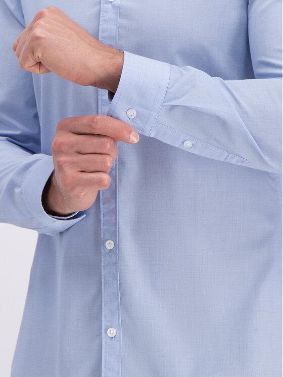 Guess Guess Koszula M93H13 WAD20 Niebieski Slim Fit