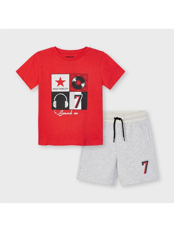 Mayoral Komplet t-shirt i spodenki 3646 Kolorowy Regular Fit