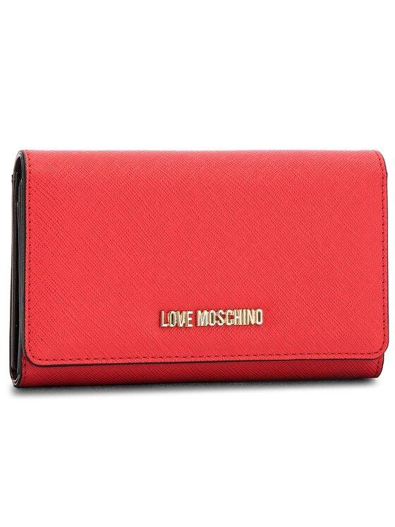 LOVE MOSCHINO LOVE MOSCHINO Duży Portfel Damski JC5553PP16LQ0500 Czerwony
