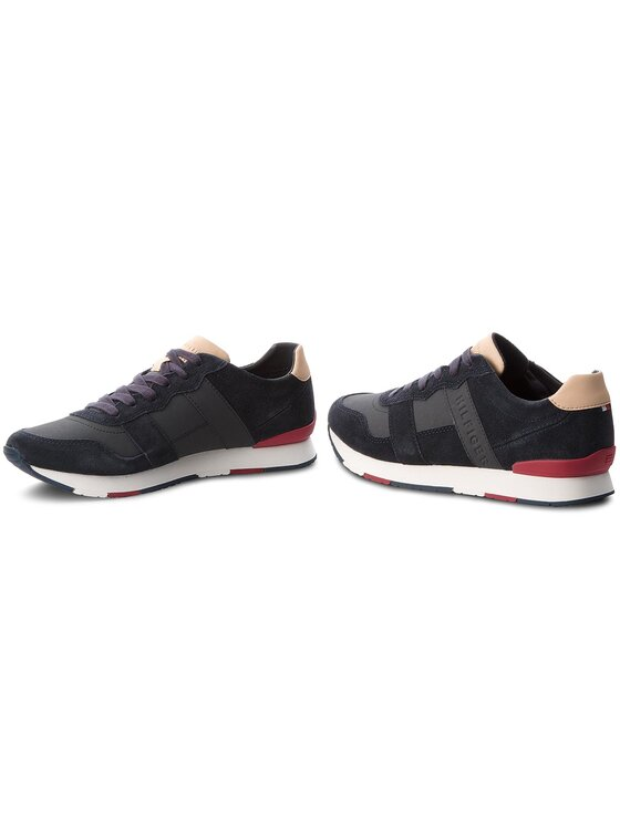 Tommy Hilfiger Tommy Hilfiger Sneakersy City Casual Material Mix Runner FM0FM01624 Granatowy