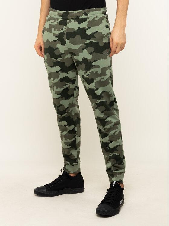 Calvin Klein Performance Calvin Klein Performance Παντελόνι φόρμας Knit Pants 00GMH9P683 Πράσινο Regular Fit
