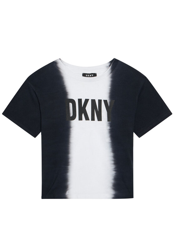 DKNY DKNY T-Shirt D35R31 S Czarny Regular Fit