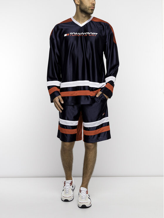 Tommy Sport Marškinėliai ilgomis rankovėmis S20S200110 Tamsiai mėlyna Regular Fit