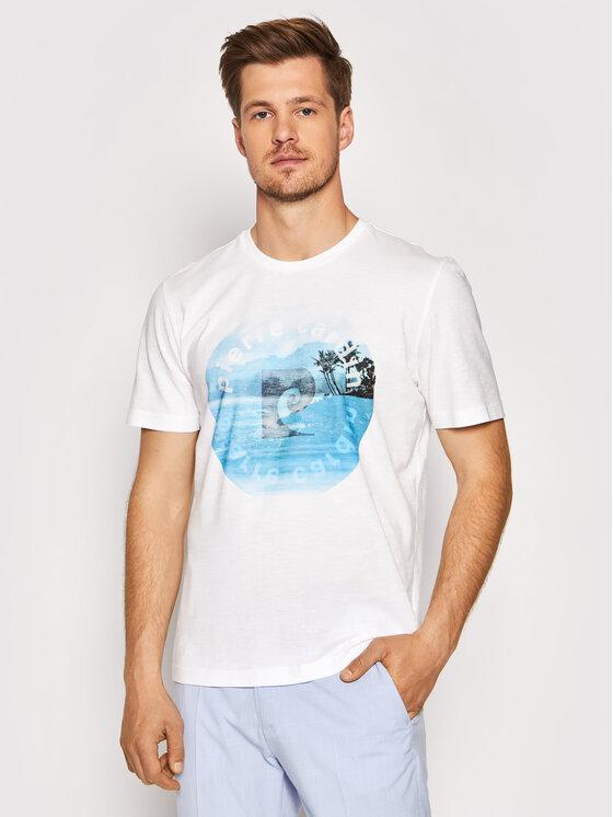 Pierre Cardin Marškinėliai 52630/000/11275 Balta Regular Fit