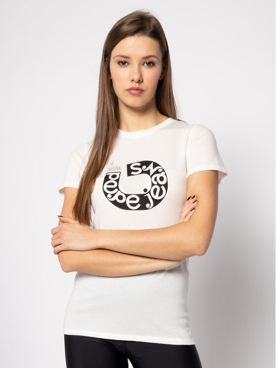 Pepe Jeans Pepe Jeans T-Shirt Cadee PL504334 Μπεζ Slim Fit