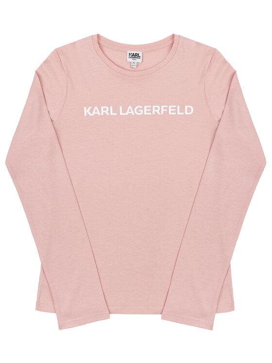 KARL LAGERFELD KARL LAGERFELD Блуза Z15208 S Розов Regular Fit