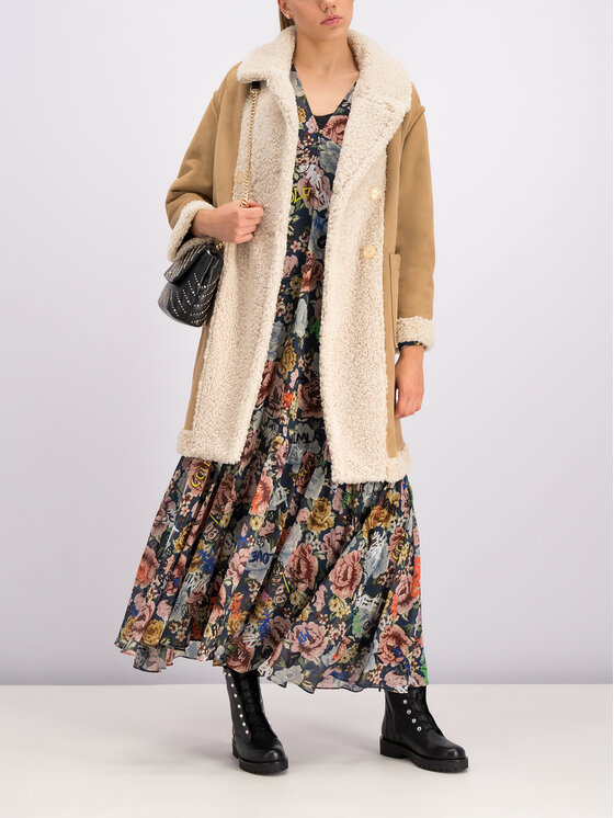 My Twin My Twin Manteau d'hiver 192MT2020 Beige Regular Fit