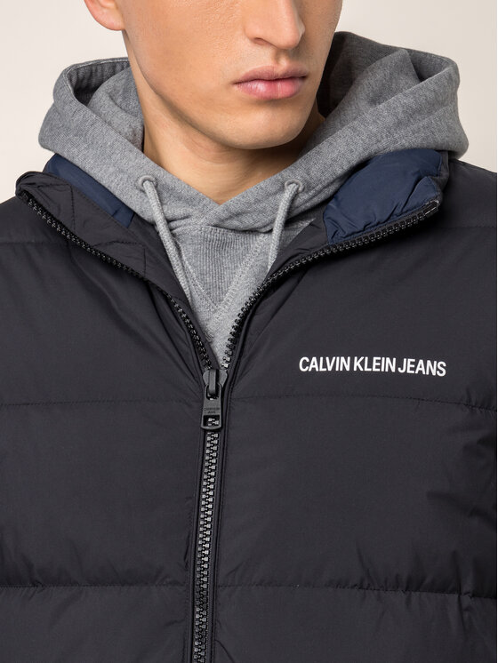 Calvin Klein Jeans Calvin Klein Jeans Kamizelka Quilted Down Padded J30J312767 Czarny Slim Fit