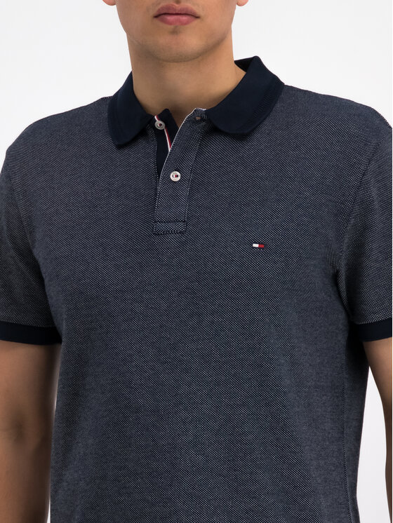 Tommy Hilfiger Tommy Hilfiger Polo Signature MW0MW10788 Granatowy Regular Fit