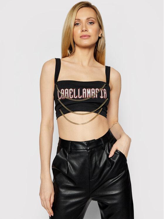 LaBellaMafia Marškinėliai 21284 Juoda Slim Fit