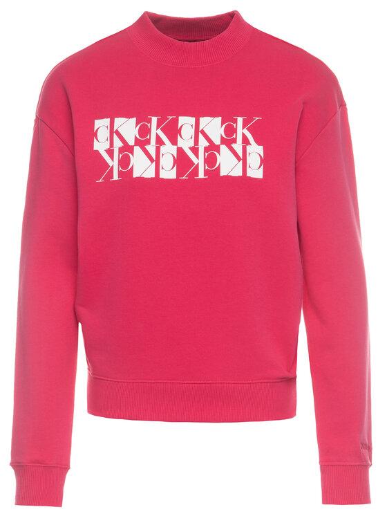 Calvin Klein Jeans Calvin Klein Jeans Pulóver Mirror Monogram Logo Organic J20J212984 Rózsaszín Regular Fit
