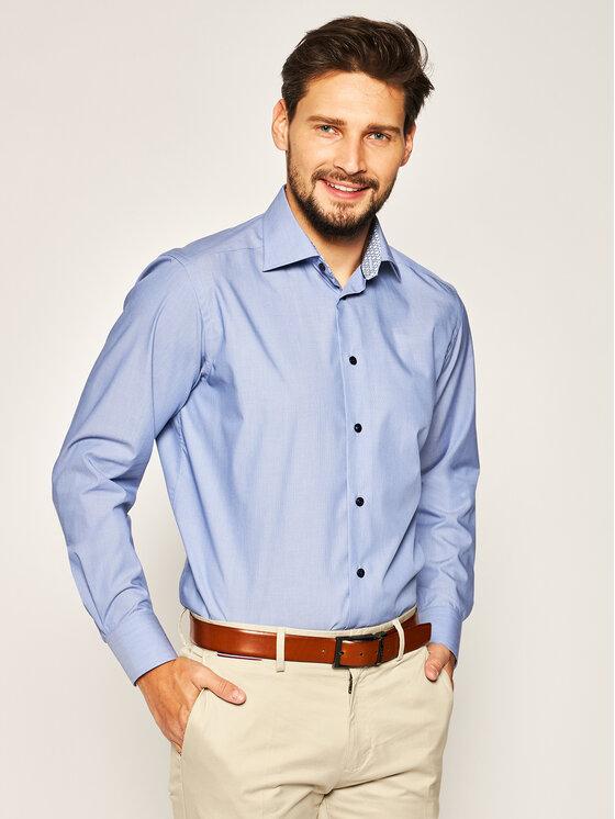 Eton Marškiniai 100000960 Mėlyna Regular Fit