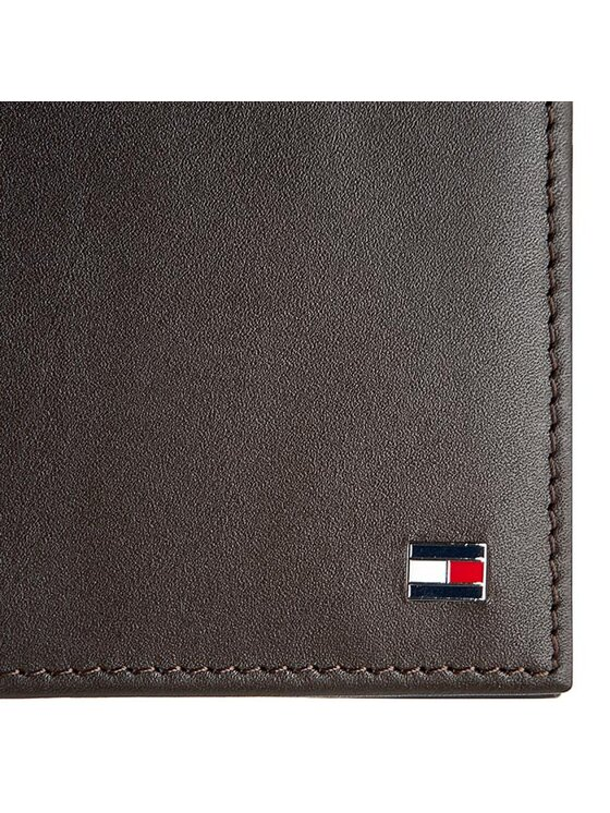 Tommy Hilfiger Tommy Hilfiger Duży Portfel Męski Eton Mini Cc Flap&Coin Pocket AM0AM83369 Brązowy
