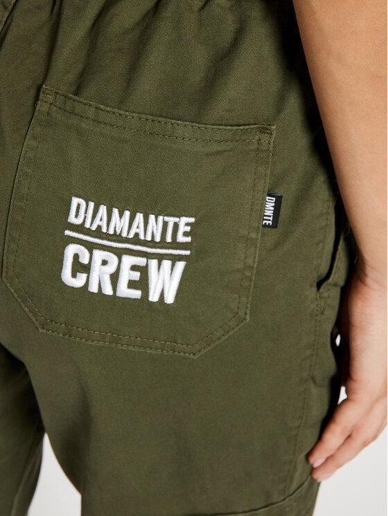Diamante Wear Diamante Wear Joggery Unisex Cargo V3 5509 Zielony Regular Fit