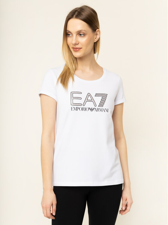 EA7 Emporio Armani EA7 Emporio Armani Тишърт 3HTT30 TJ12Z 1100 Бял Regular Fit