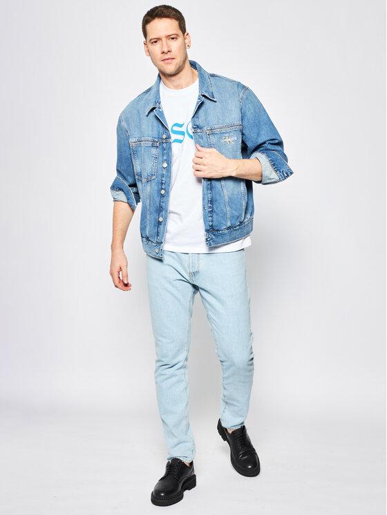 MSGM MSGM Marškinėliai 2840MM235 207098 Balta Regular Fit