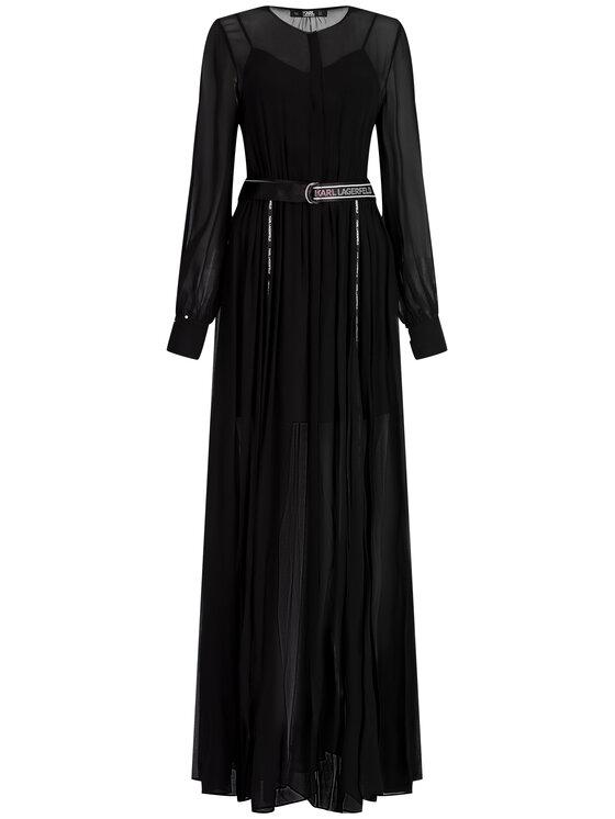 KARL LAGERFELD KARL LAGERFELD Večerné šaty 91KW1313 Čierna Regular Fit