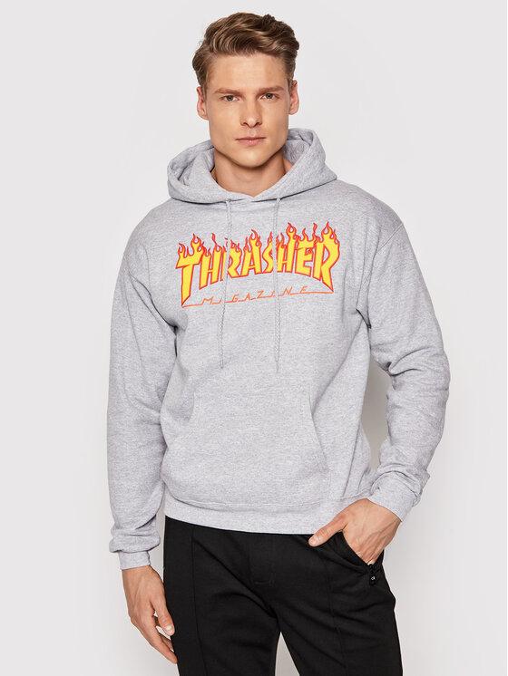 Thrasher Džemperis Flame Pilka Regular Fit