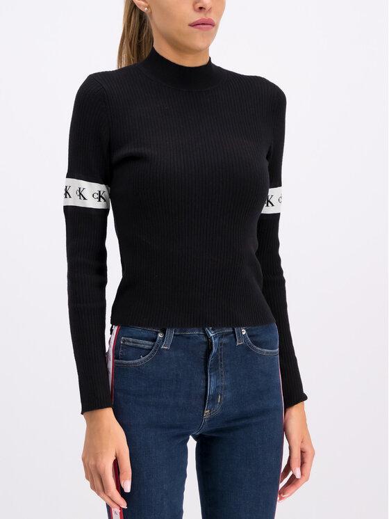 Calvin Klein Jeans Calvin Klein Jeans Rollkragenpullover J20J212149 Schwarz Slim Fit