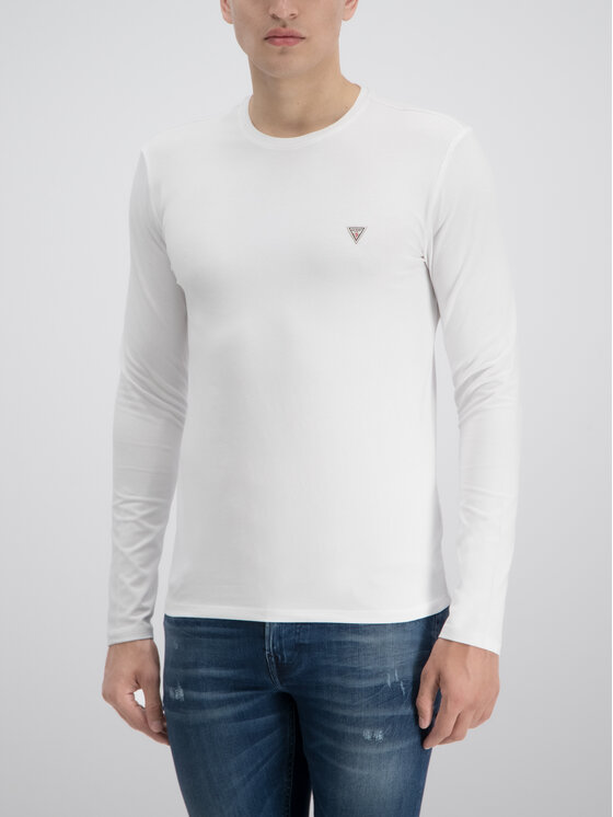 Guess Guess Longsleeve M93I53 J1300 Λευκό Slim Fit