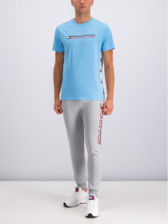 Tommy Sport Tommy Sport Pantalon jogging HBR Logo S20S200189 Gris Regular Fit