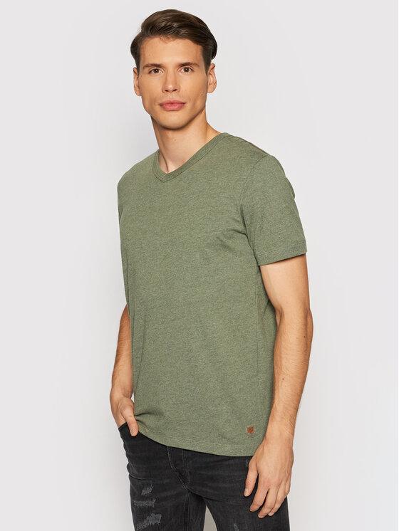 Jack&Jones PREMIUM Marškinėliai Blubowery 12194108 Žalia Regular Fit