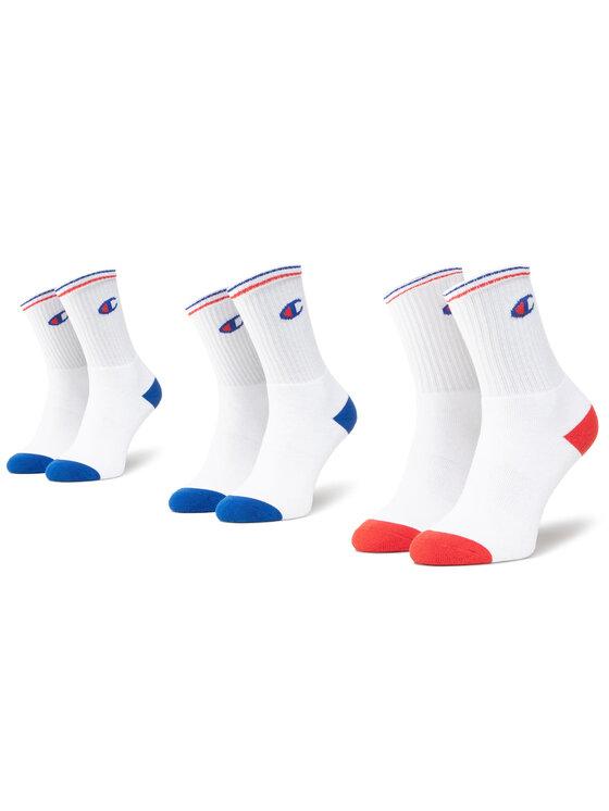 Champion Champion Súprava 3 párov vysokých ponožiek unisex CH000829 8LX Biela