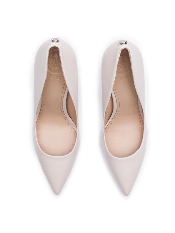 Guess Guess Pantofi cu toc subțire Okley6 FL7OK6 LEA08 Alb