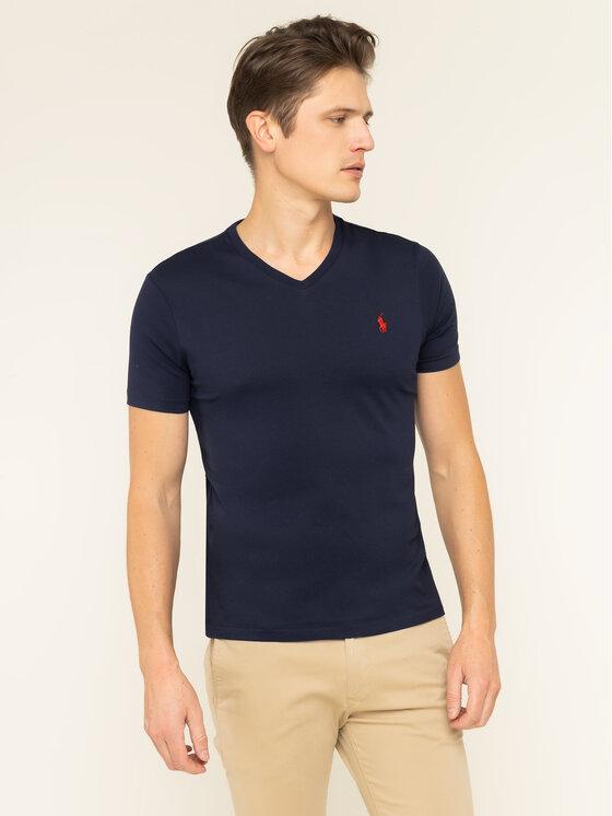 Polo Ralph Lauren Polo Ralph Lauren T-Shirt 710671453091 Σκούρο μπλε Custom Slim Fit