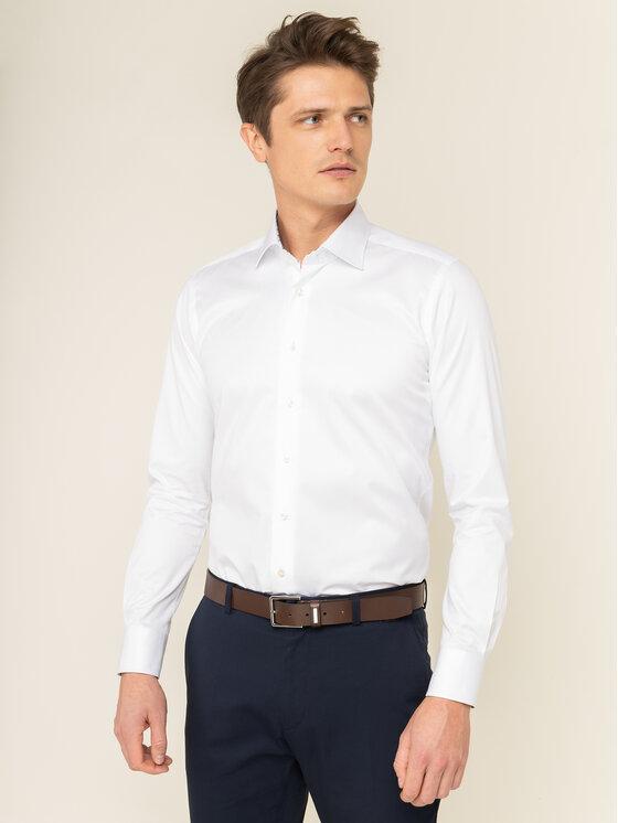 Emanuel Berg Marškiniai Mr.Crown PEB46194 Balta Slim Fit