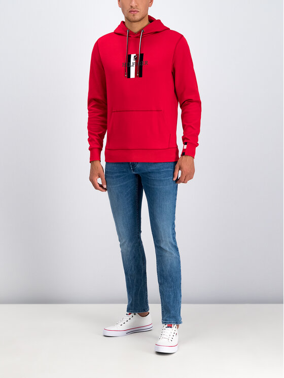 Tommy Hilfiger Tommy Hilfiger Felpa Luxury Artwork MW0MW11566 Rosso Regular Fit