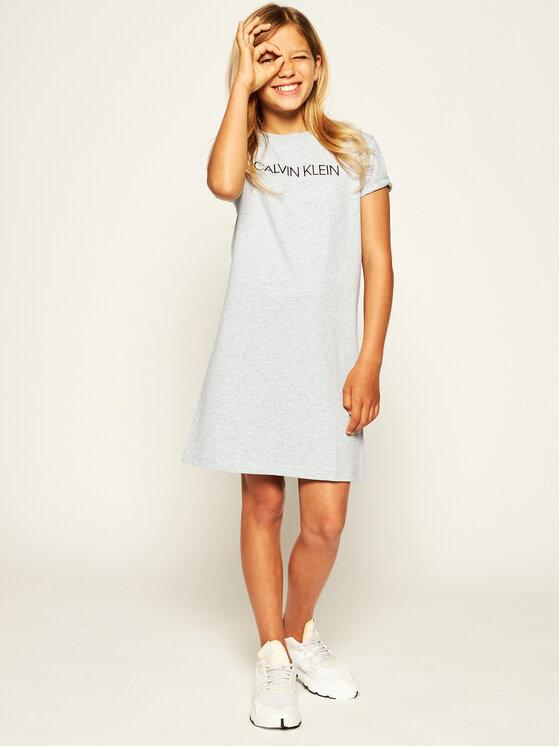 Calvin Klein Jeans Calvin Klein Jeans Ежедневна рокля Insitutional IG0IG00468 Сив Regular Fit