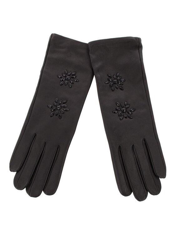 TwinSet TwinSet Дамски ръкавици Guanti OA8T5E Черен