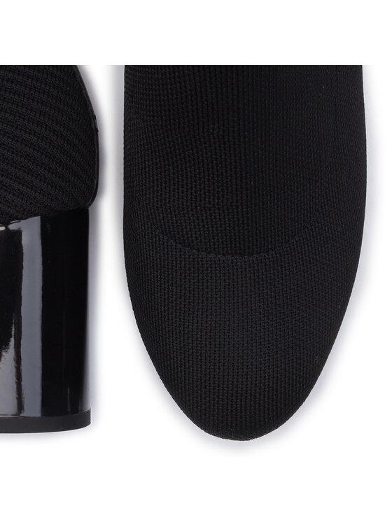 Tommy Hilfiger Tommy Hilfiger Botine Knitted Helled Boot FW0FW04157 Negru