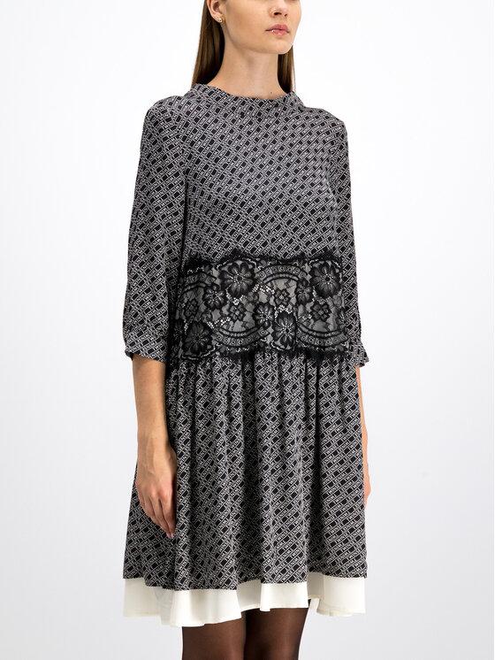 TwinSet TwinSet Φόρεμα καθημερινό 192TP258C Μαύρο Regular Fit
