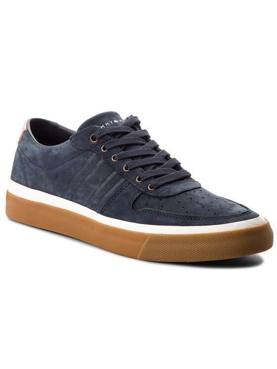 Tommy Hilfiger Tommy Hilfiger Laisvalaikio batai Unlined Low Cut Nubuck Sneaker FM0FM01633 Tamsiai mėlyna