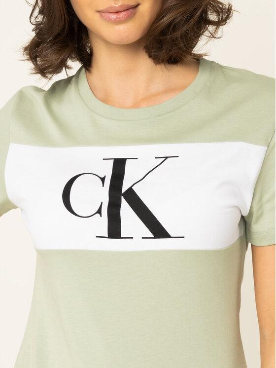 Calvin Klein Jeans Calvin Klein Jeans Tričko J20J213183 Zelená Regular Fit